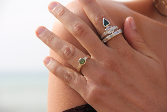 Royale Majestic Ring || Gold Peridot