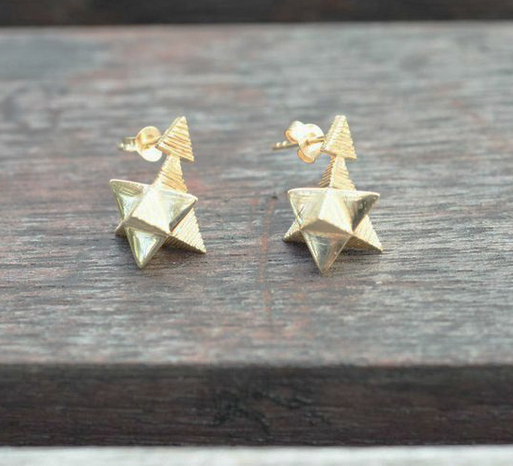Star Tetrahedron Post Earring