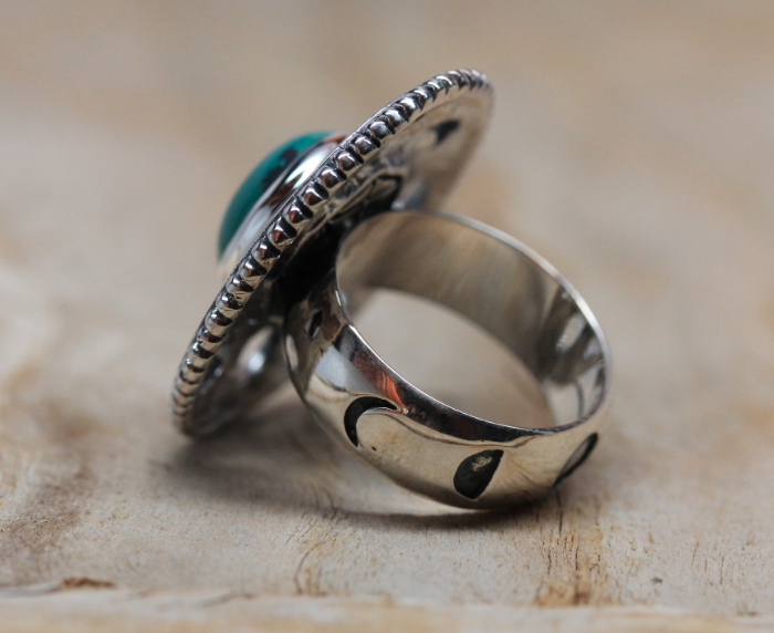 Silver Moon Cycle Ring