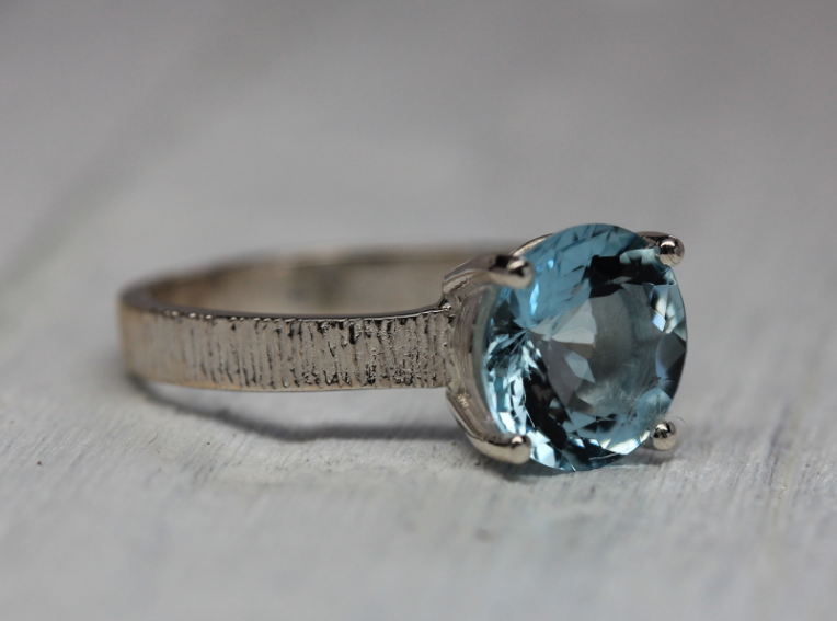 Majestic Ring || Silver Aquamarine
