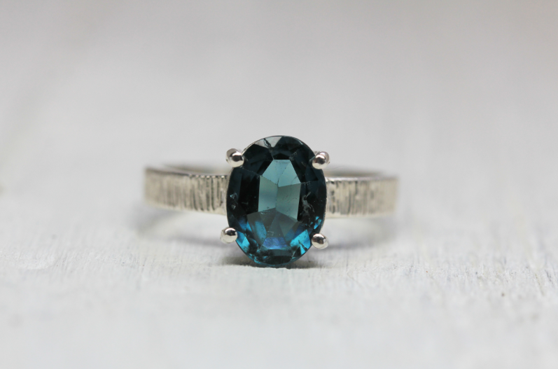 Majestic Ring || Silver Blue Tourmaline