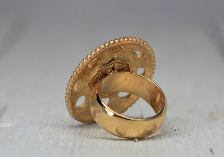 Gold Moon Cycle Ring