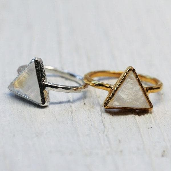 Moonstone Delta Ring :: see more colors
