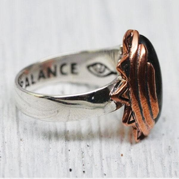 Sun & Moon Ring : Copper & Sterling