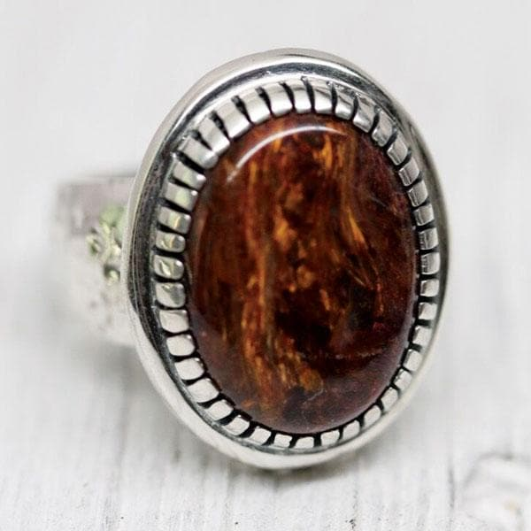 Mens Pietersite Earth Ring