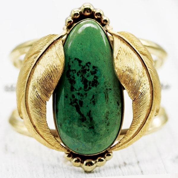Kinship Cuff :: Parrot Wing Chrysocolla