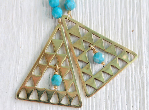 Gold Island Earrings || view more colors