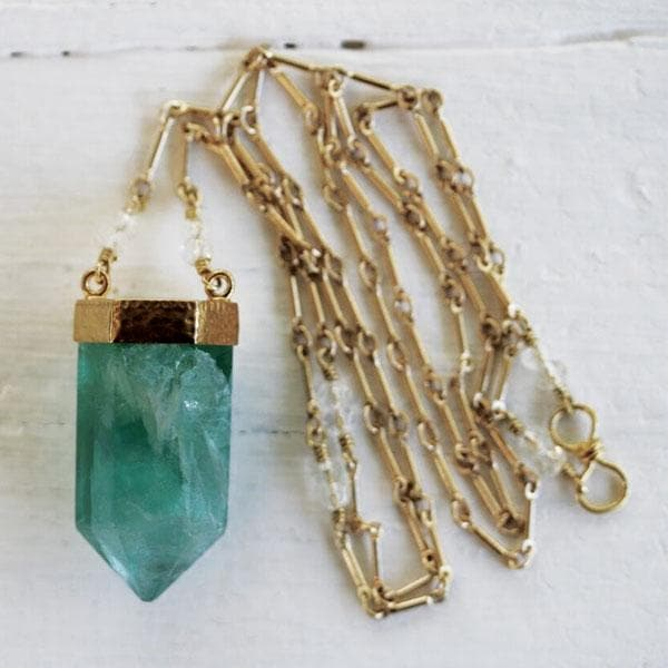 Fluorite Wand Necklace :: see more colors