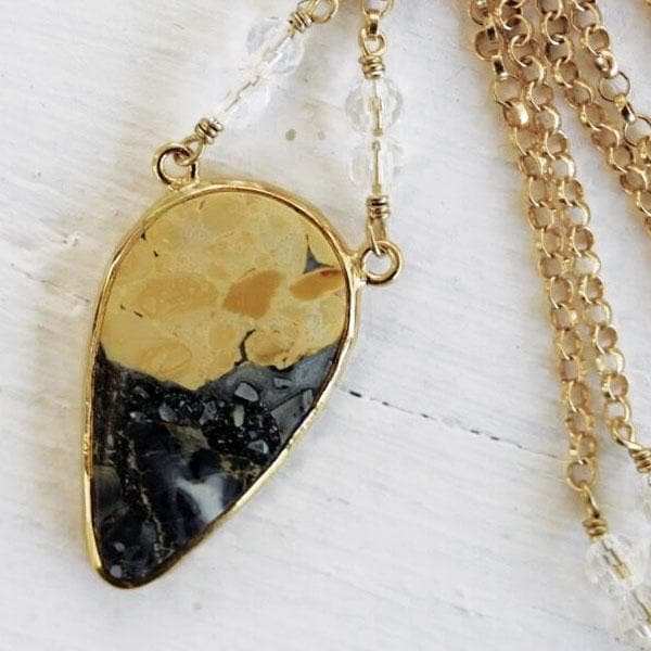 White Horse Jasper Necklace