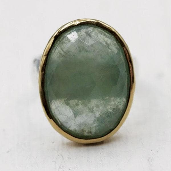 Faceted Peridot Ring