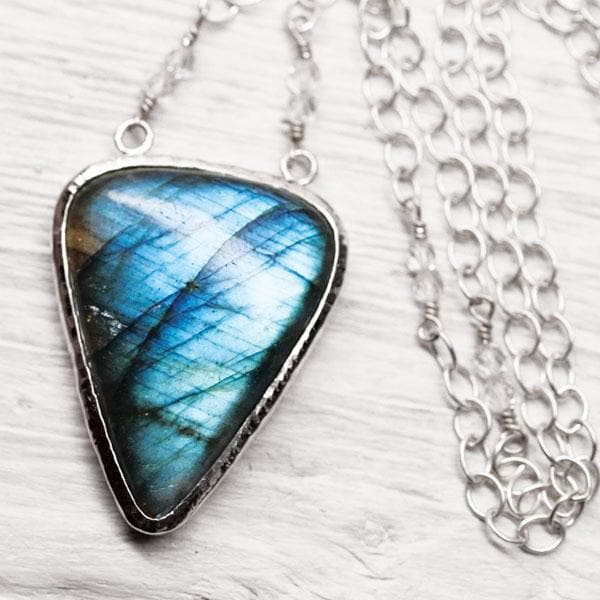 Silver Labradorite Necklace