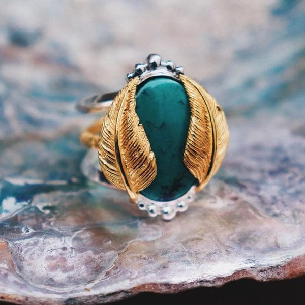 Kinship Ring :: Turquoise oval