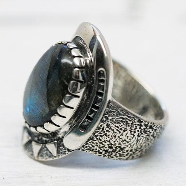 Mens Good Karma Ring - Labradorite