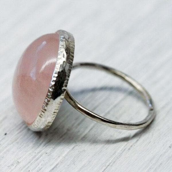 Rose Quartz Elfin Ring