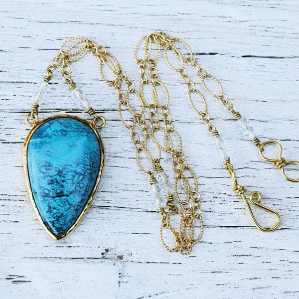Gold Shattuckite Necklace
