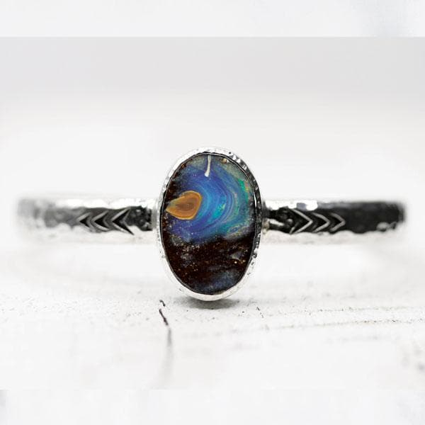 Lightening Ridge Opal Heirloom Cuff