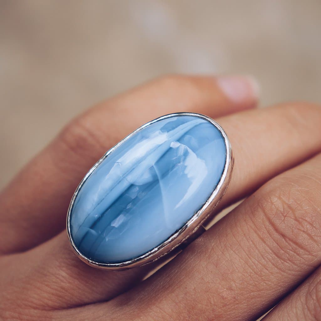 Periwinkle Opal Ring