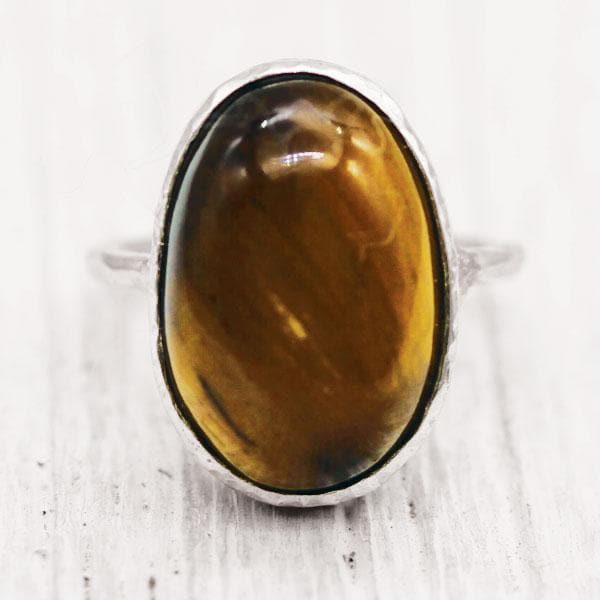 Tigers Eye Elfin Ring