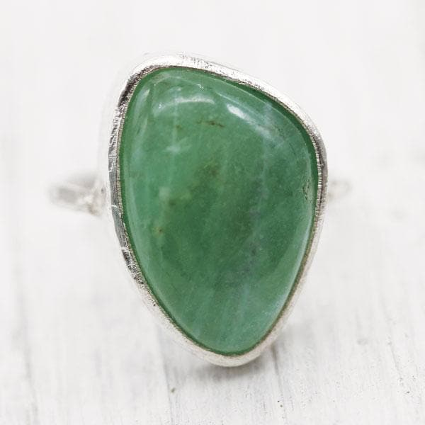 Green Moonstone Elfin Ring