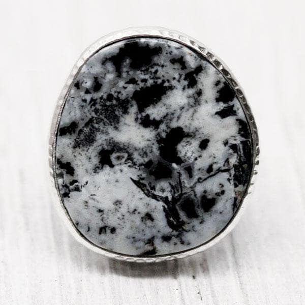 Silver White Buffalo Turquoise Ring