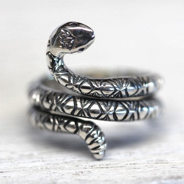 Rattlesnake Lotus Ring || view more colors