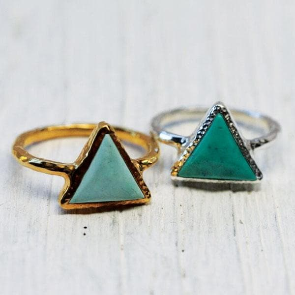 Delta Turquoise Ring