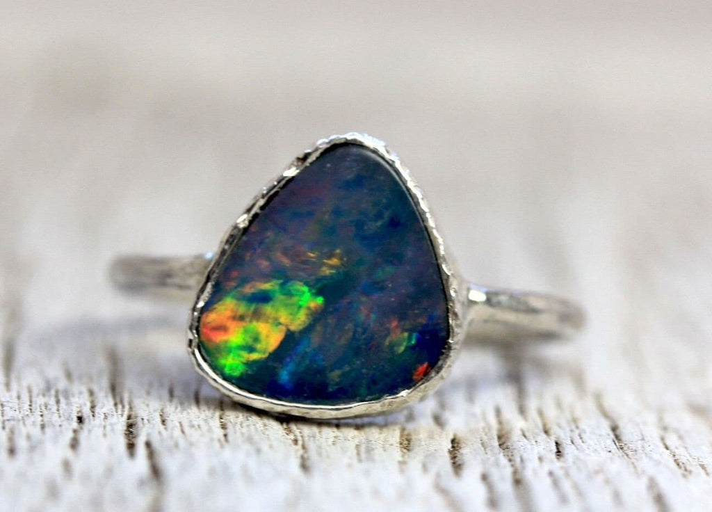 Blue Opal Elfin Ring