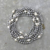 Fresh Water Pearl Double Strand Necklace - Pewter
