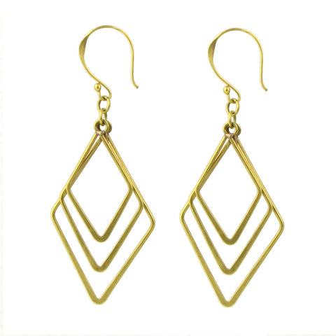 Brass Angle Earrings