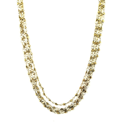 Brass Bead 4-Layer Necklace