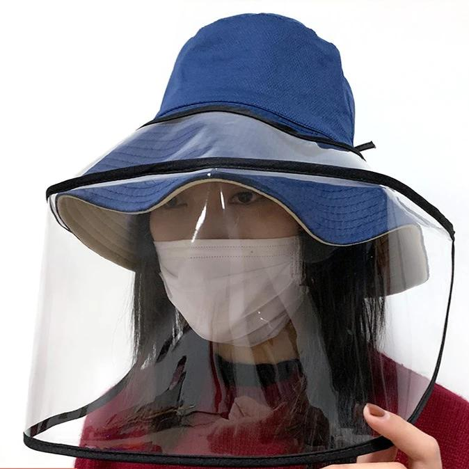 Droplet Blocking Face Shield Hat