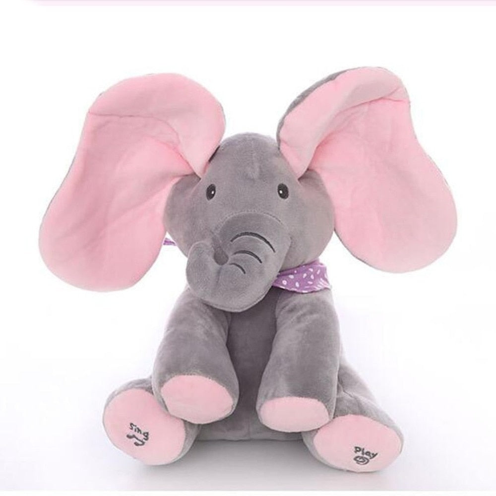Peek-a-boo Animated Singing Flappy Elephant Plush Toy