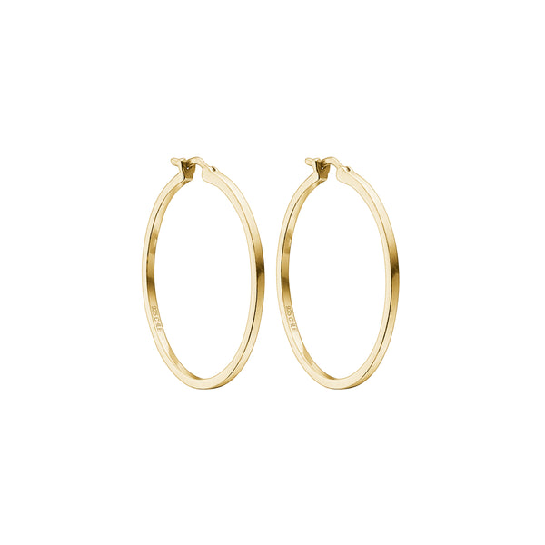 Celia hoops - HIGH POLISHED GOLD
