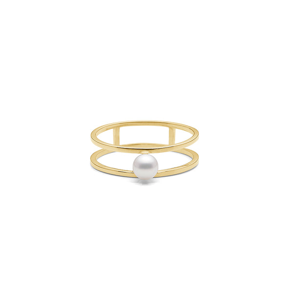 gold ring pearl