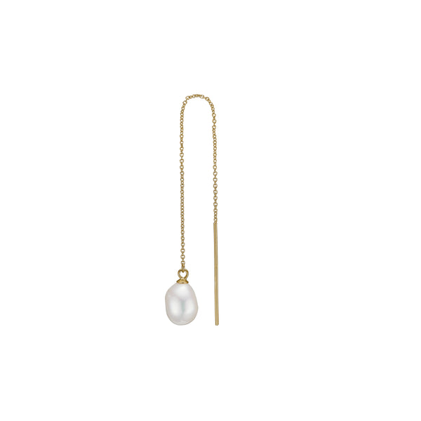 Eliza Pearl Earring - HIGH POLISHED GOLD