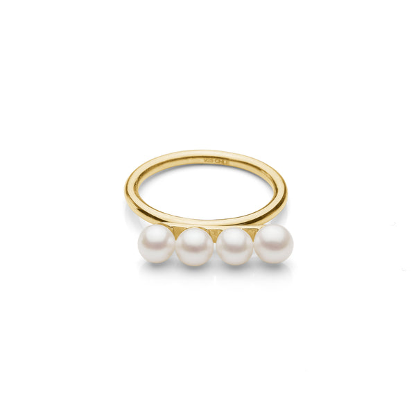 Jamie Pearl Ring - HIGH POLISHED GOLD