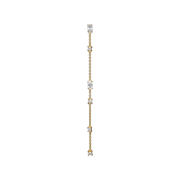 Jamina Chain Earring - HIGH POLISHED GOLD