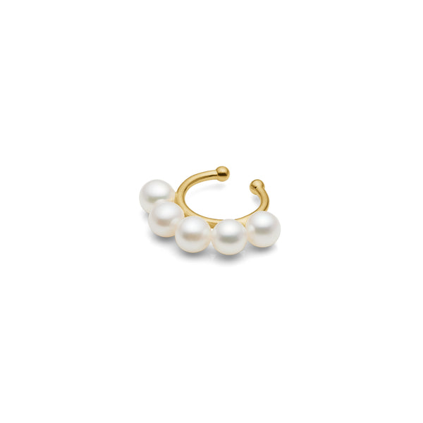 Jen Pearl Ear-Cuff - HIGH POLISHED GOLD