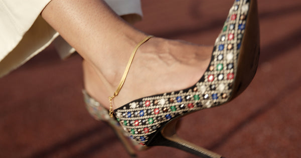 Vera Ankle Chain - HIGH POLISHED GOLD