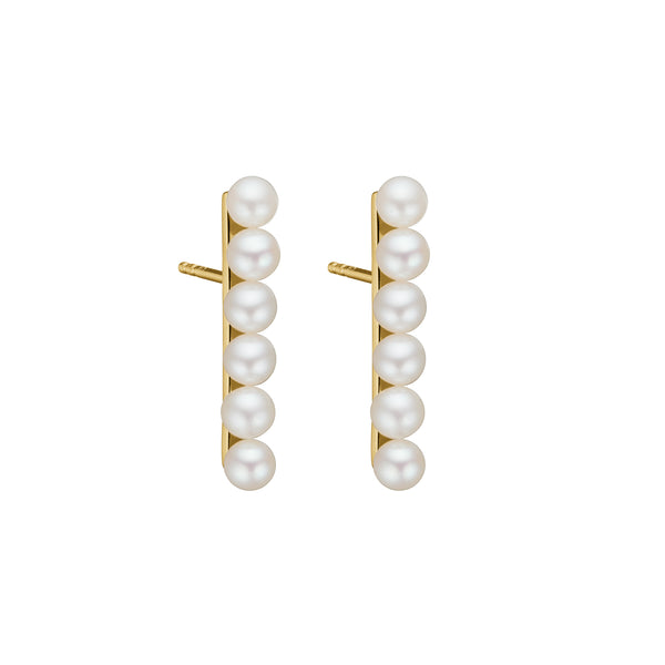 Laura Pearl Earring - HIGH POLISHED GOLD