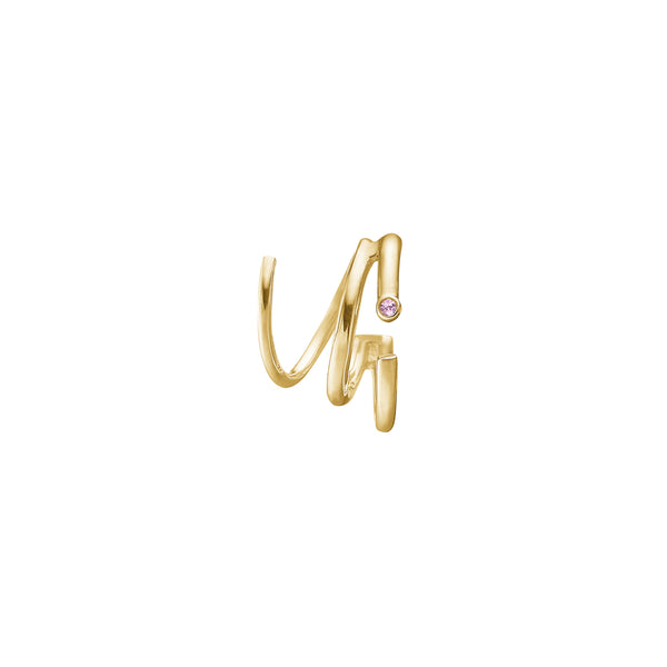 Lily Twirl Earring - HIGH POLISHED GOLD
