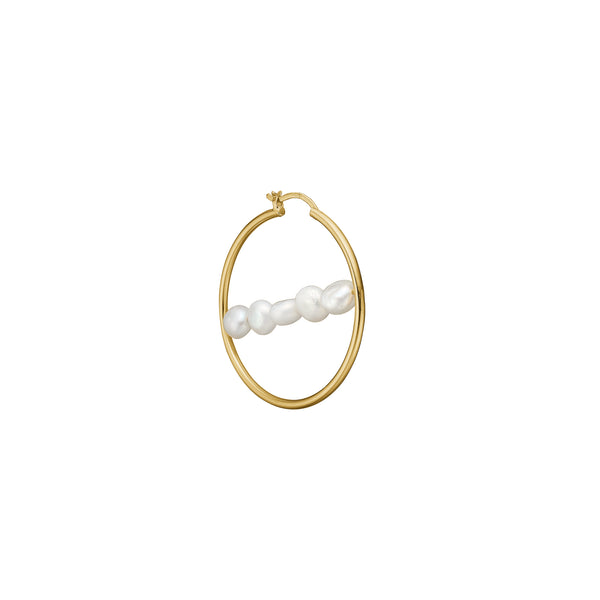 Mina Hoop - HIGH POLISHED GOLD