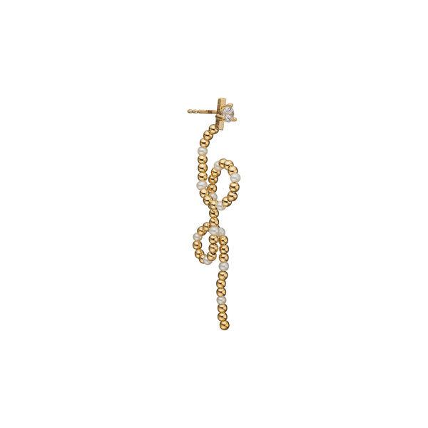 Silje Pearl Earring - HIGH POLISHED GOLD