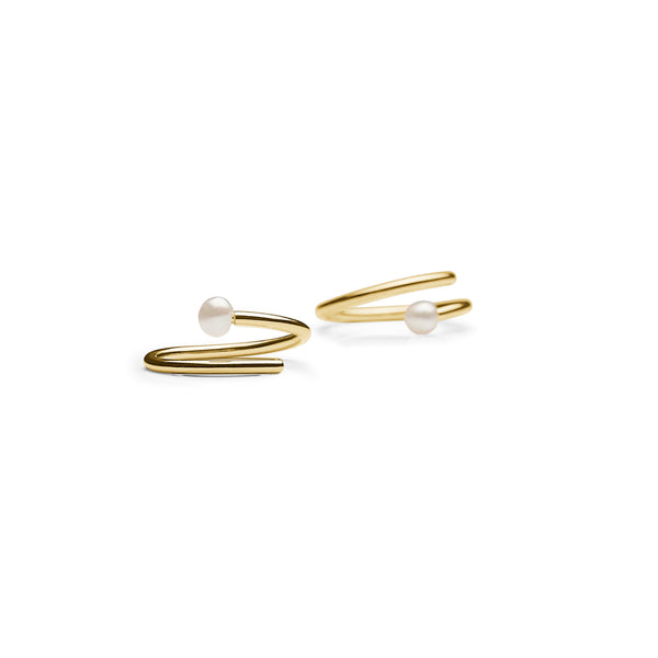 Pearl Twirl Earring - HIGH POLISHED GOLD