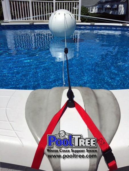 18' x 34' Oval Pool:  PoolTree System + Mesh Cover