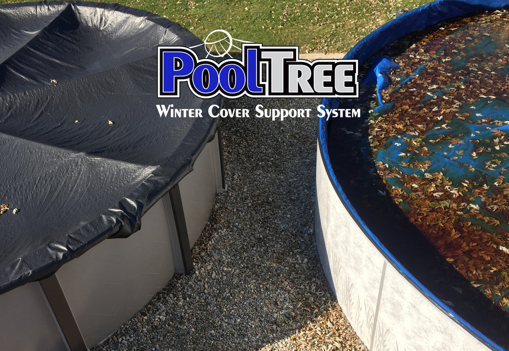 Pooltree system, pool tree system, winter cover system, aboveground pools, above ground pool, pool pillow, pool cover,  mesh cover, pool closing, pool winterization, support system, swimming pool, winter pool cover,  winterizing, air pillow, pool accessory, round pool, cover pillow, pool equipment, swimline, in the swim, pool mate, pillow pal, swim central, porous cover, pool pump, pool winter cover, pool cover support, round pool cover, round winter cover, pool closing kit