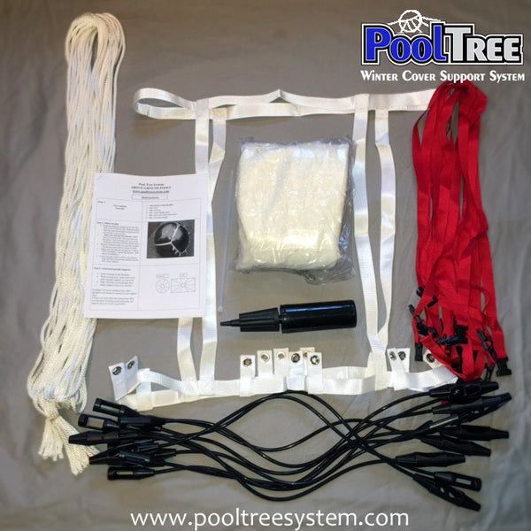 Pooltree System Large Above Ground Pool Winter Cover Pool