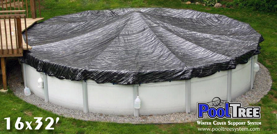Pooltree system, pool tree system, winter cover system, aboveground pools, above ground pool, pool pillow, pool cover,  mesh cover, pool closing, pool winterization, support system, swimming pool, winter pool cover,  winterizing, air pillow, pool accessory, oval pool, cover pillow, pool equipment, swimline, in the swim, pool mate, pillow pal, swim central, porous cover, pool pump, pool winter cover, pool cover support, oval pool cover, oval winter cover, pool closing kit