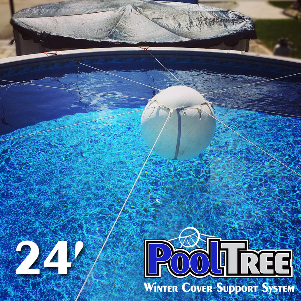 Pooltree System Mesh Cover Set Round Pool Winter Cover Pool