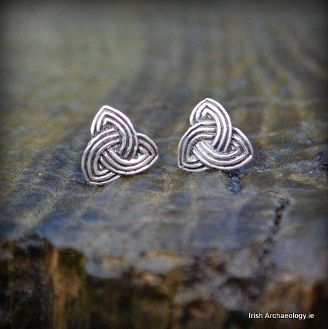 Silver Trinity Knot Earrings